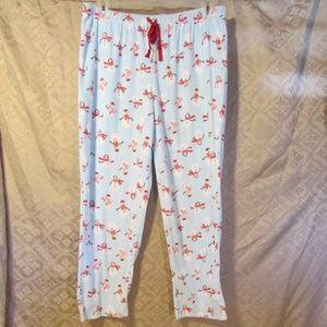 NEW Soft Fleece Lounge Pants Snowman design